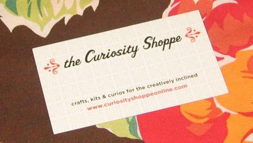 Curiosity Shoppe Card