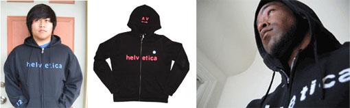 Helvetica hoodies