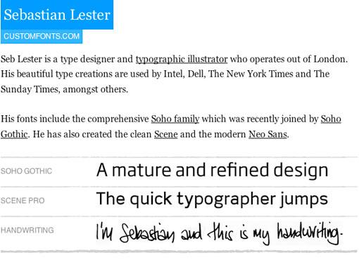 Sebastian Lester typography