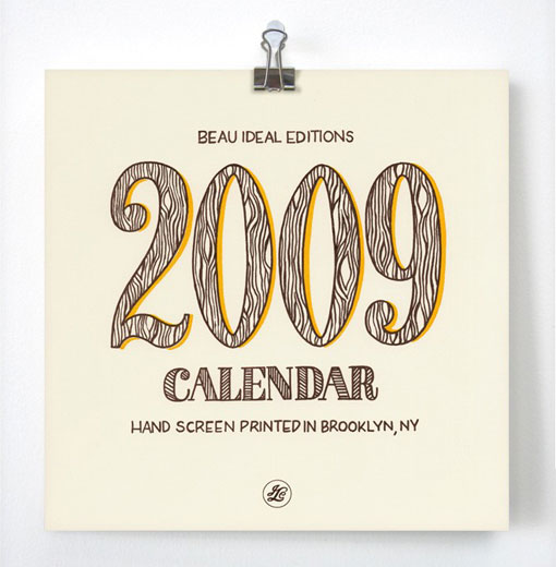 Beau Ideal 2009 Calendar 01