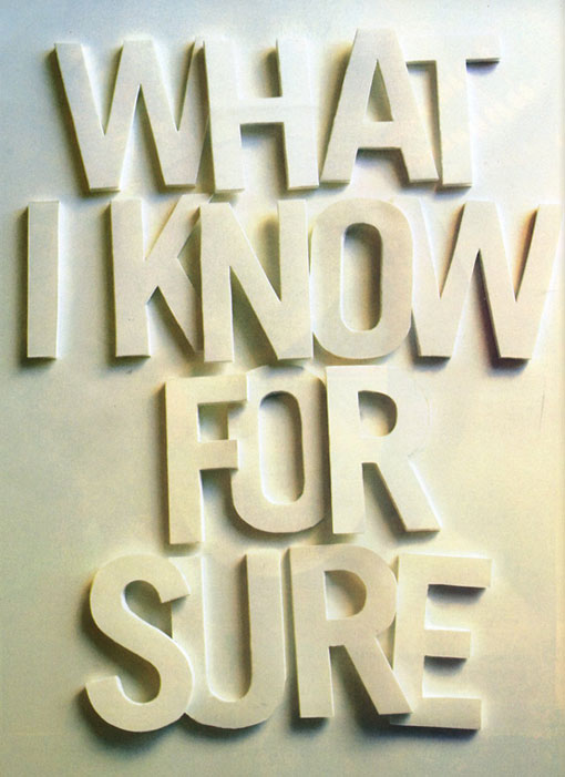 What I Know for Sure 01