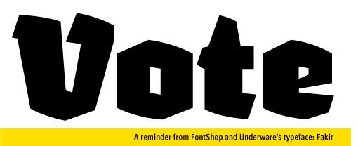 Fontshop Vote 01