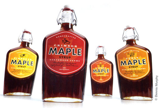 Maple syrup bottle design
