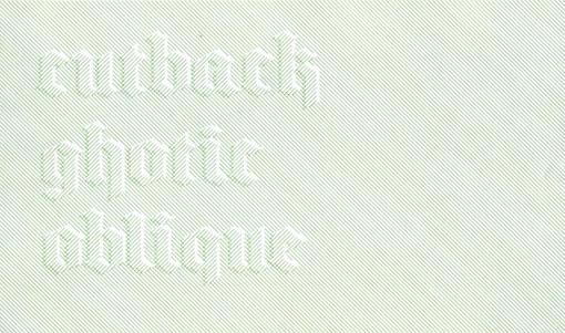 Cutback Gothic 01