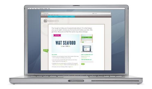 Seamless homepage