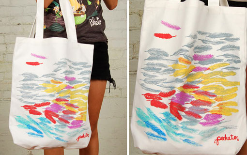 Poketo Feathers Tote