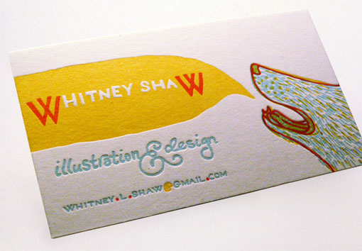Whitney Shaw business card