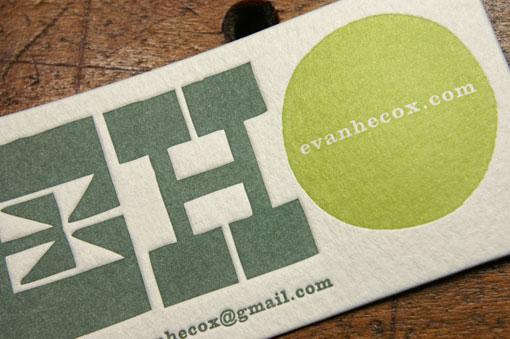 Evan Hecox business card