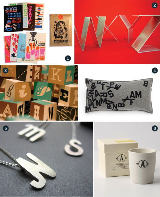 Gift Guide: Typography 01