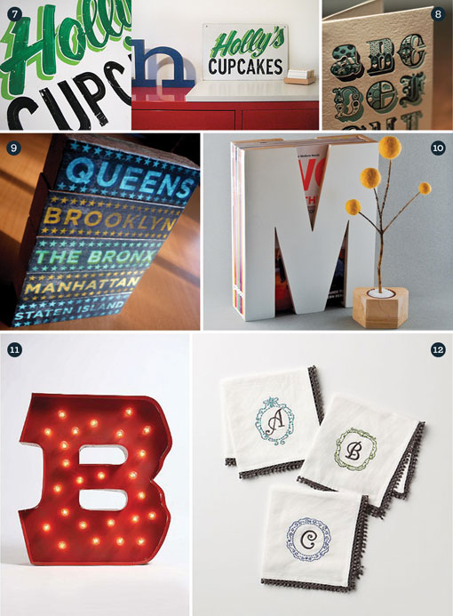 Gift Guide: Typography 02