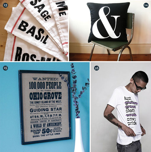 Gift Guide: Typography 03
