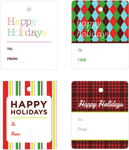 Seamless Gift Tags