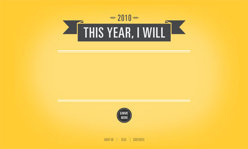 This Year, I Will