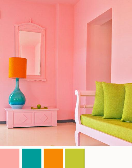 Paleta De Colores Combinaciones Con El Color Rosa
