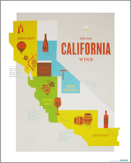 Wine country travel posters design work life for California wine