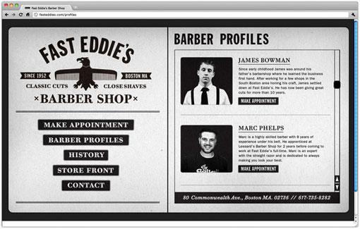 Richard Arthur Stewart: Fast Eddie's Barber Shop | Design Work Life