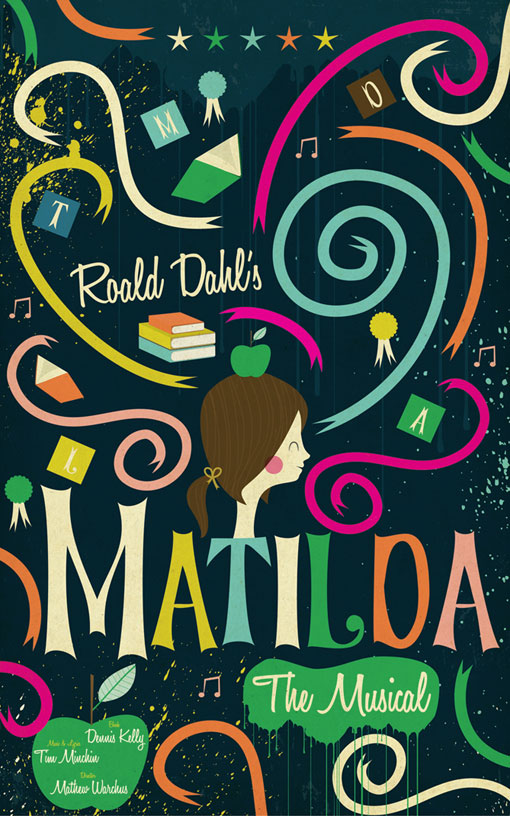 Book Cover Graphism Url ~ Andrew bannecker matilda the musical design work life