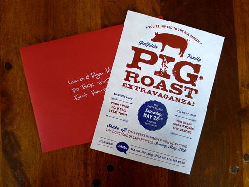 lindsay giuffrida pig roast invitations design work life