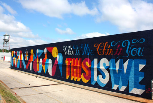 San Francisco Business Murals Hand Lettering