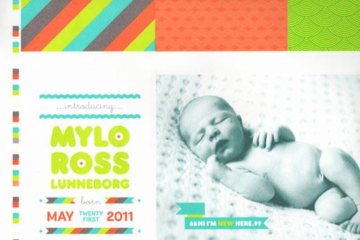 Brooke Lunneborg Mylo Birth Announcement – Birth Announcement Design