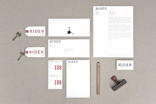 Josh finklea rider branding design work life for Design hotel chain