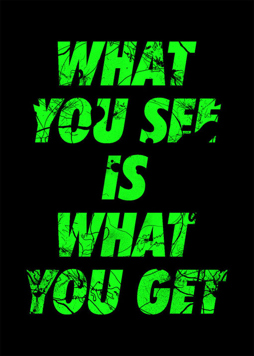 Tind What You See Is What You Get Posters Design Work Life