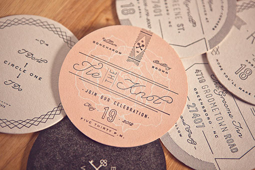 ross clodfelter coaster wedding invitations design work life