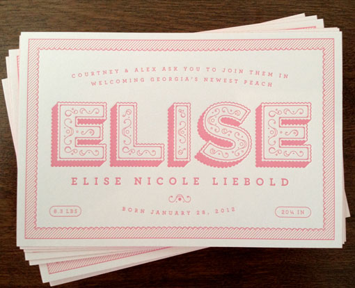 Alex Liebold: Birth Announcement | Design Work Life