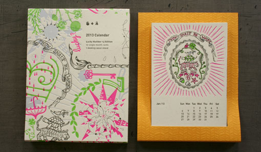 Calendar Typography Life : Studio on fire desk calendar design work life