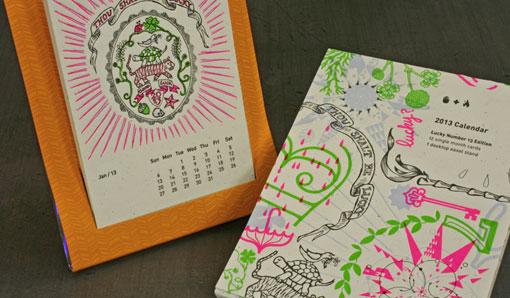 Calendar Typography Life : Studio on fire desk calendar design work life