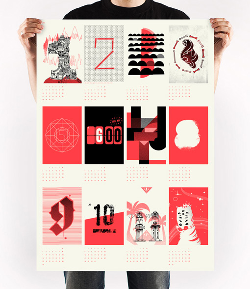 Calendar Typography Life : Upstruct poster calendar design work life