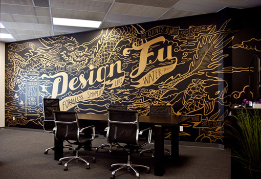 The making of design fu mural on vimeo design work life for Mural lettering