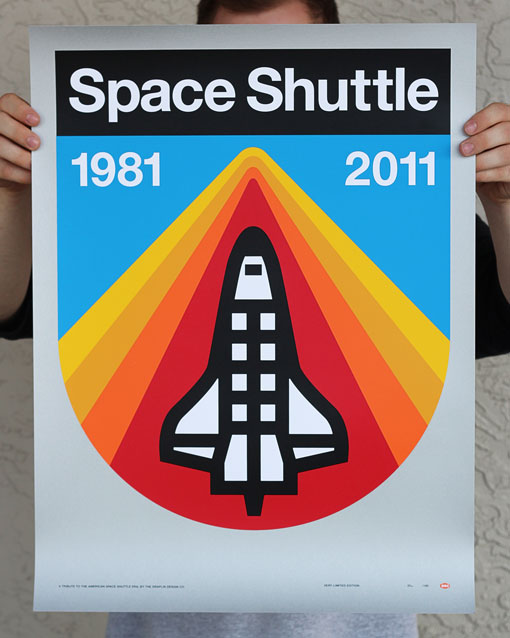 Draplin space shuttle posters design work life for Retro space design