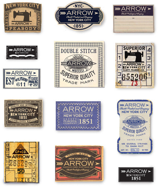 Glenn Wolk: Arrow/Cluett Labels / on Design Work Life