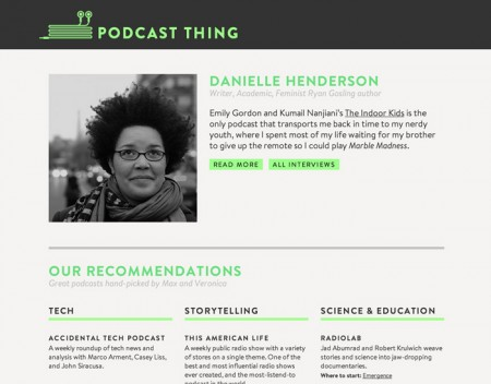 Recommended Resources: Podcast Thing / on Design Work Life
