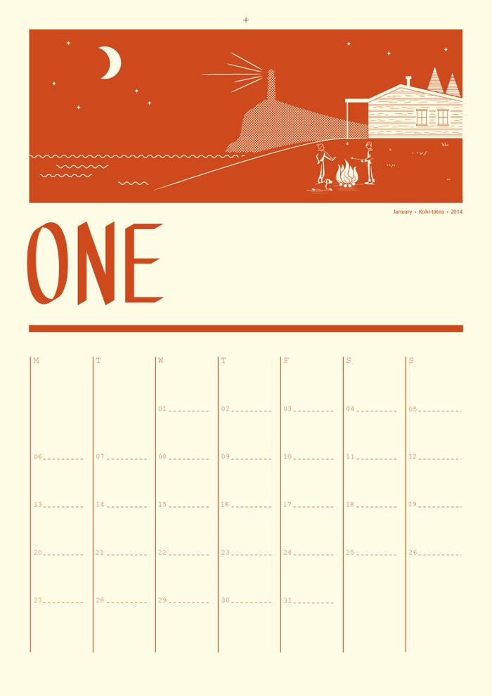 Tim Denee: 2014 Calendar / on Design Work Life