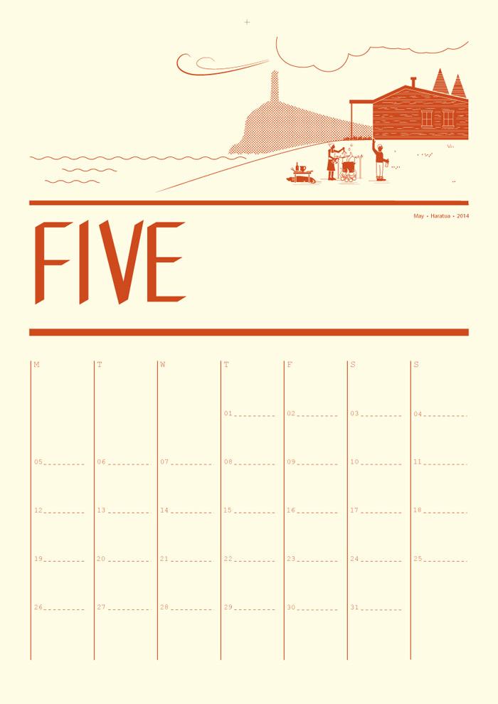 Calendar Typography Life : Tim denee a free calendar for pixelpush design