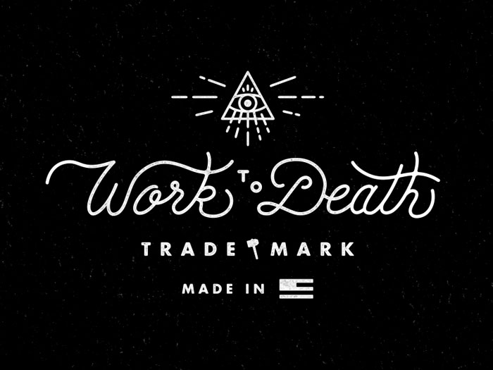Matthew Cook / Brand identity - Work to Death