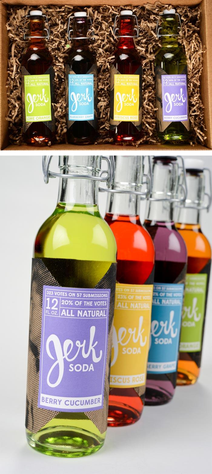 Ashley Hohnstein / Brand identity & packaging - Jerk Soda