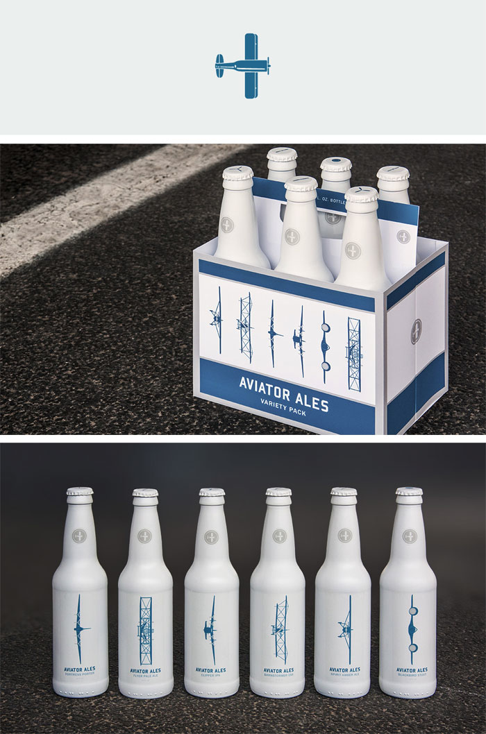 Lindsay Reynolds / Packaging & Branding - Aviator Ales