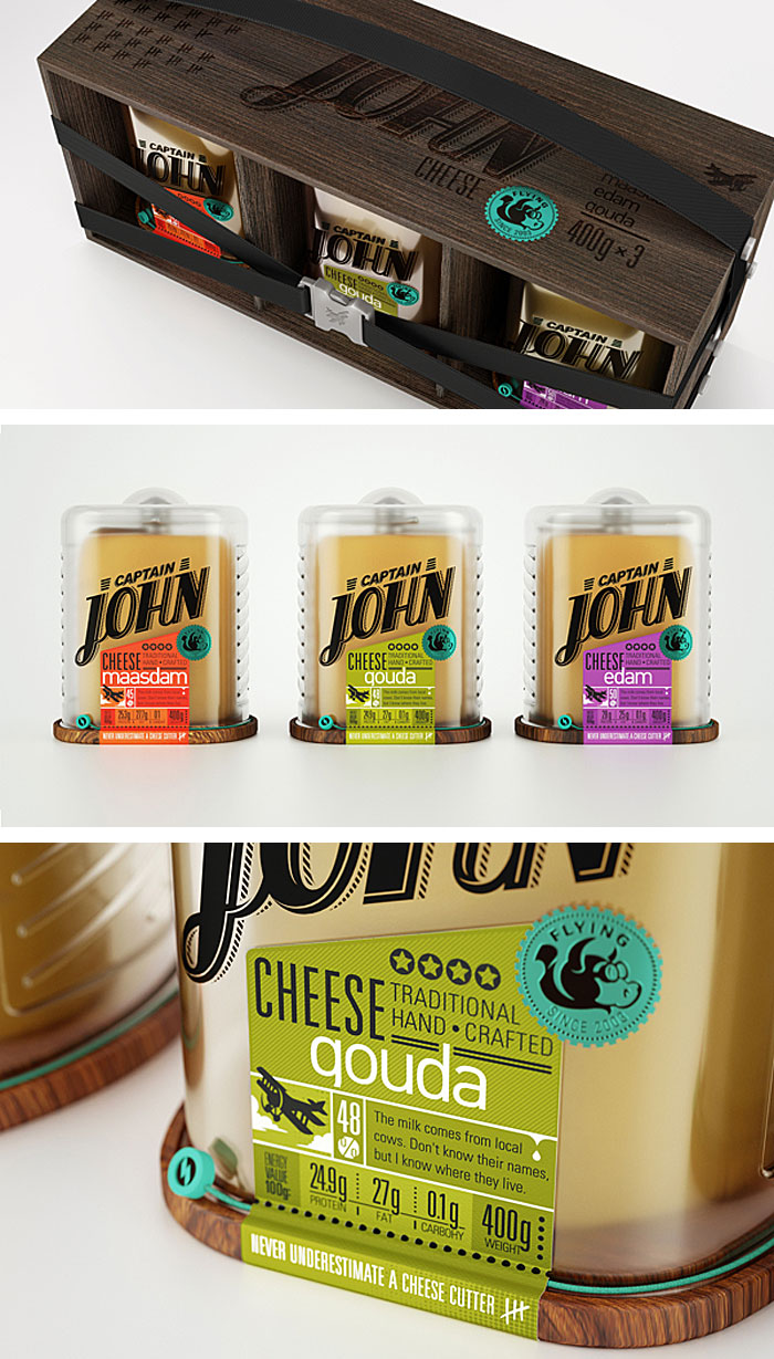 Galima Akhmetzyanova & Pavla Chuykina / Packaging concept - Captain John Cheese