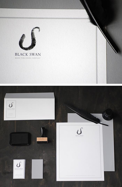 Silvia Erives / Brand identity & collateral - Black Swan Book Publishing Company