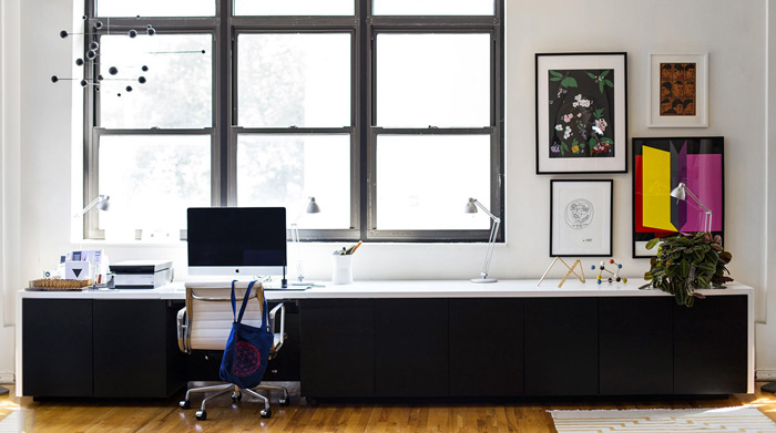 Kelli Anderson Standing Desk / on Design Work Life