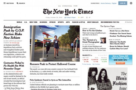 New York Times Redesign / on Design Work Life