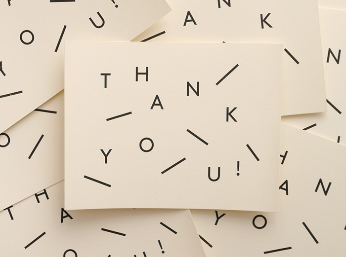 Vitae Design: Thank-you Cards / on Design Work Life