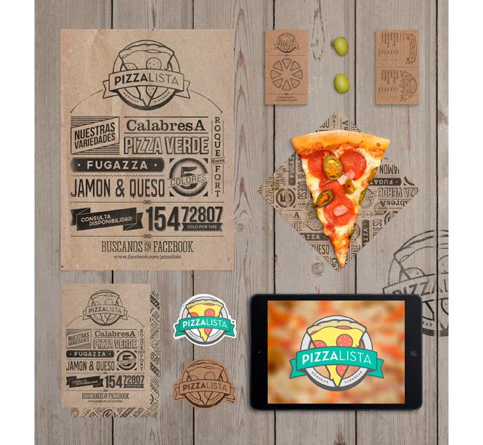 DotHaus / Brand identity & collateral - PizzaLista