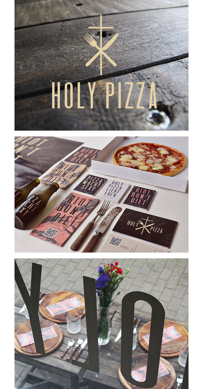 Tobias Tietchen / Brand identity & collateral - Holy Pizza