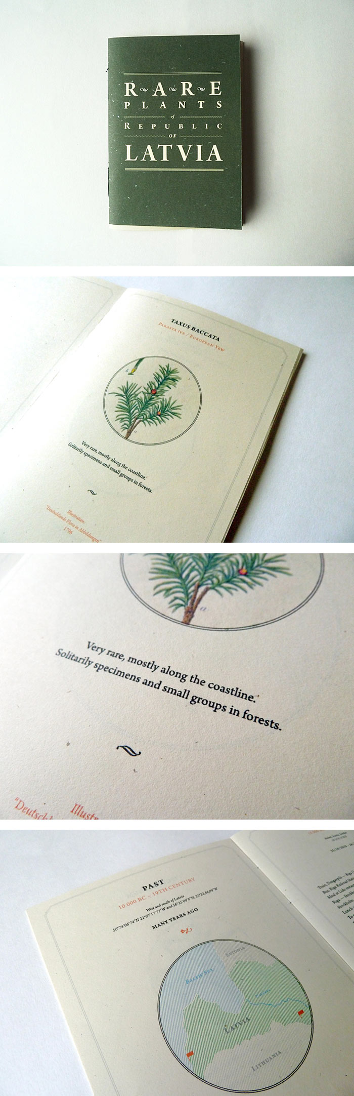 Norrskog / Book design - Rare Plants of Republic of Latvia