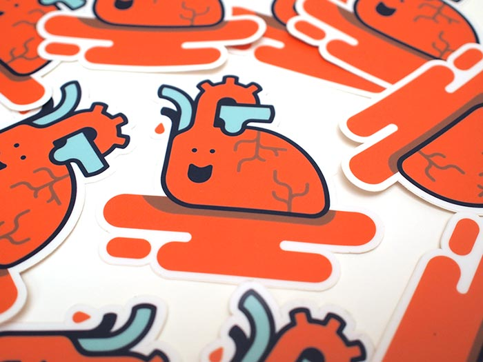 Brian Hurst / Promo stickers