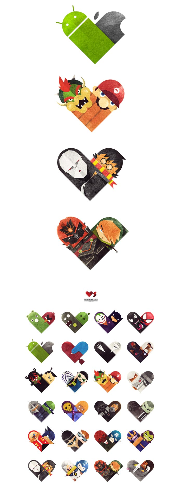 Dan Matutina / Illustration series - Versus/Hearts